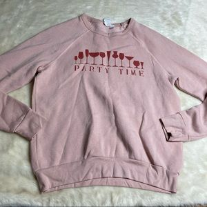 Project Social T Party Time Wine Sweatshirt XS